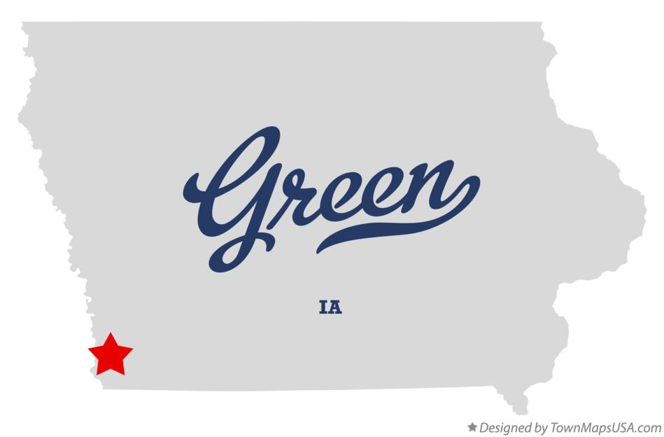 Map of Green Iowa IA
