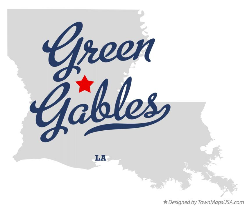 Map of Green Gables Louisiana LA