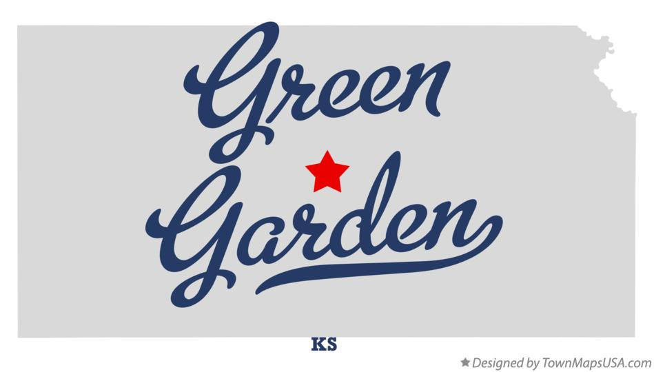 Map of Green Garden Kansas KS