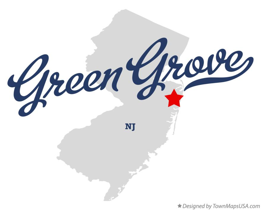 Map of Green Grove New Jersey NJ