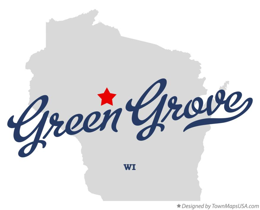 Map of Green Grove Wisconsin WI