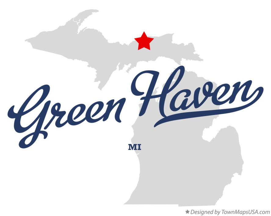 Map of Green Haven Michigan MI