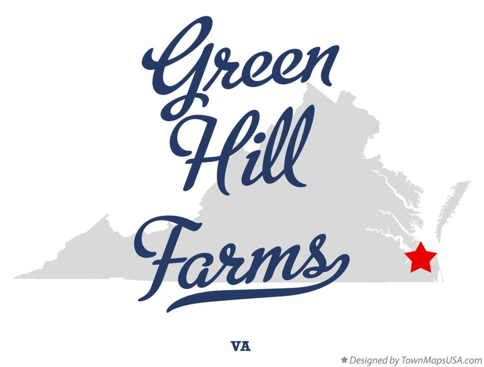 Map of Green Hill Farms Virginia VA