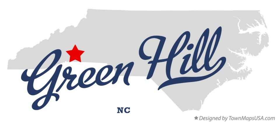 Map of Green Hill North Carolina NC