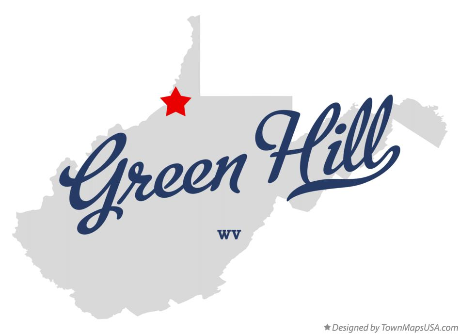 Map of Green Hill West Virginia WV