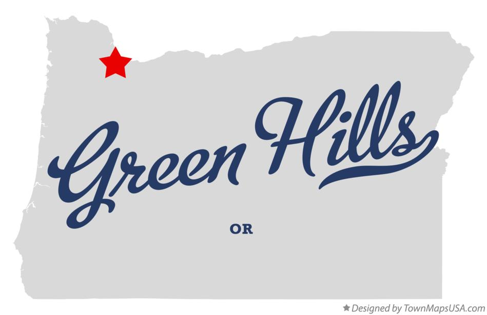 Map of Green Hills Oregon OR
