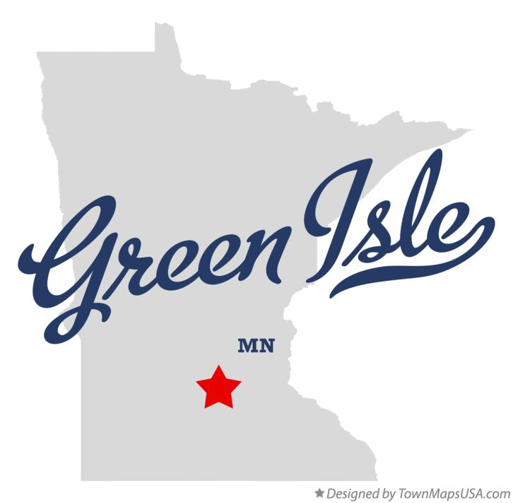 Map of Green Isle Minnesota MN