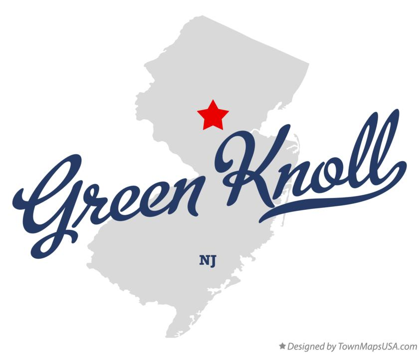 Map of Green Knoll New Jersey NJ