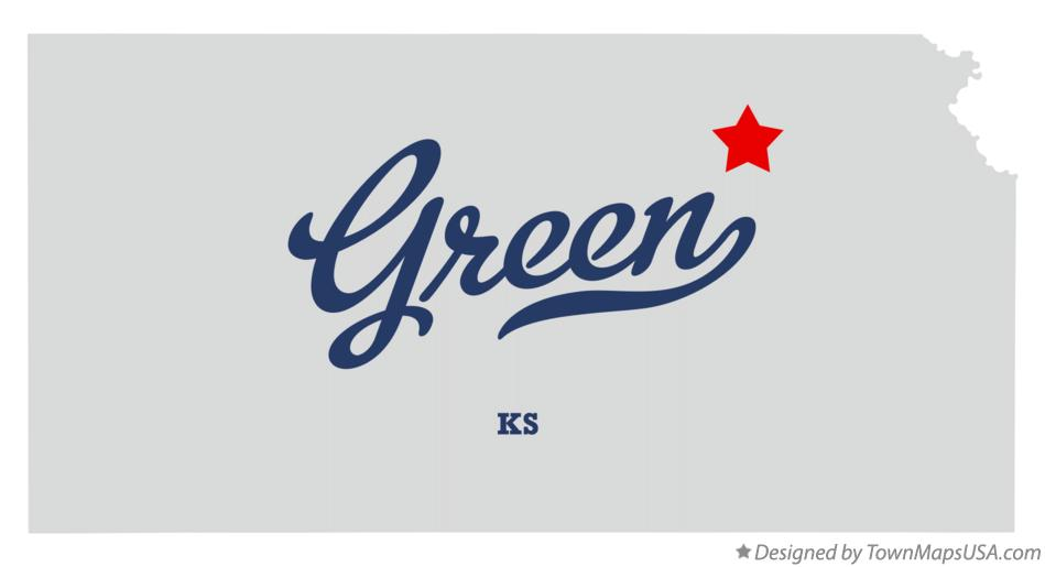 Map of Green Kansas KS