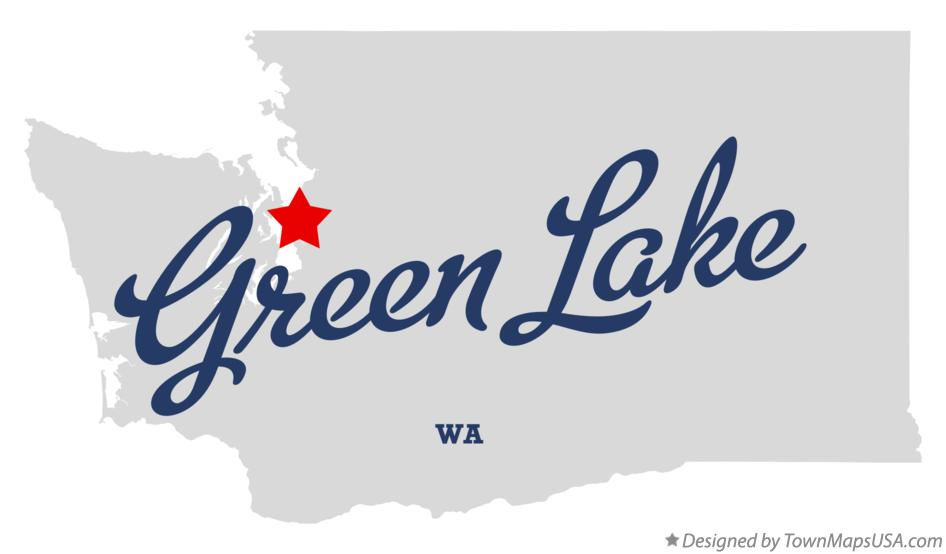 Map of Green Lake Washington WA