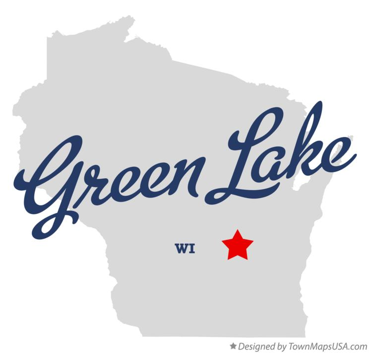 Map of Green Lake Wisconsin WI