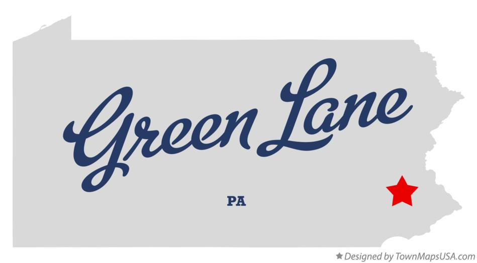 Map of Green Lane Pennsylvania PA
