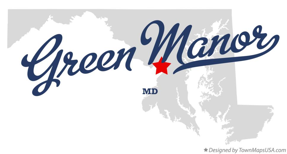 Map of Green Manor Maryland MD