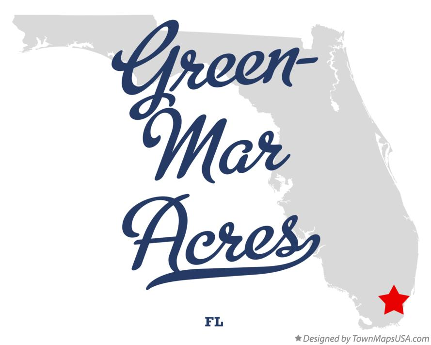 Map of Green-Mar Acres Florida FL