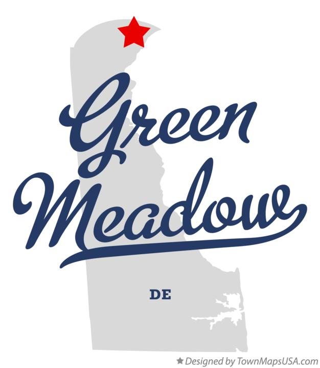 Map of Green Meadow Delaware DE