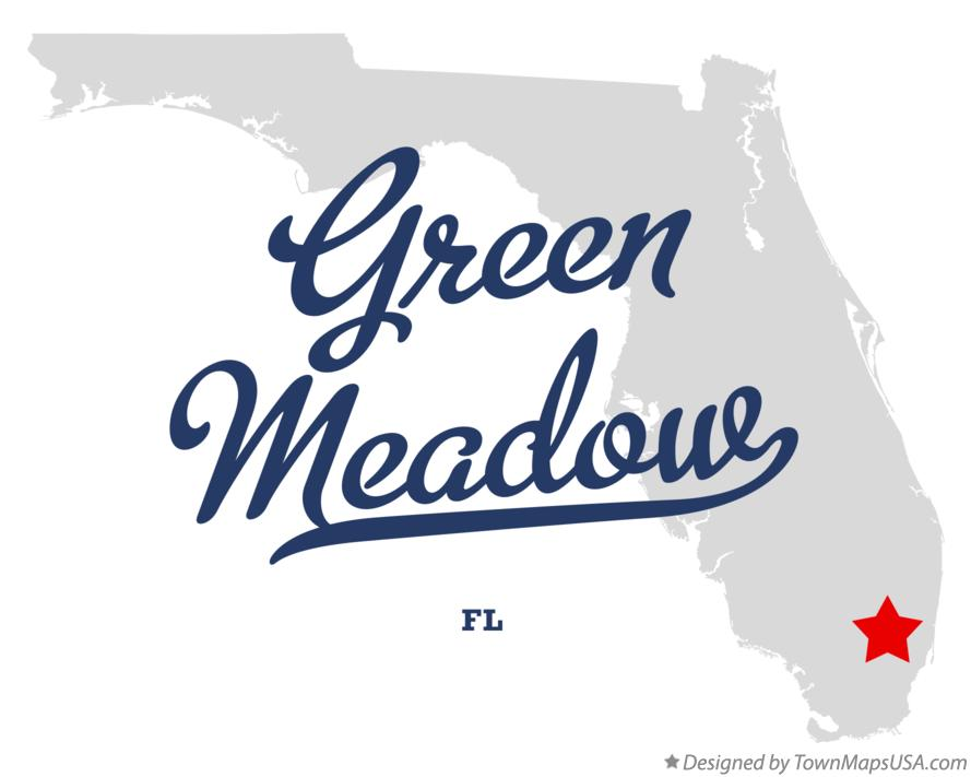 Map of Green Meadow Florida FL