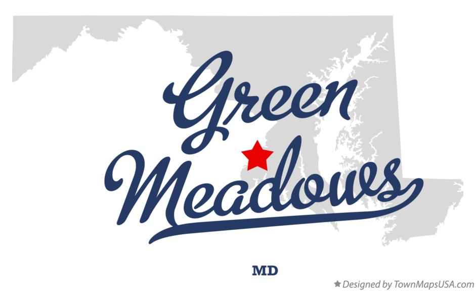 Map of Green Meadows Maryland MD