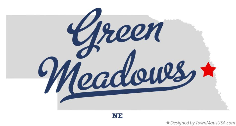 Map of Green Meadows Nebraska NE