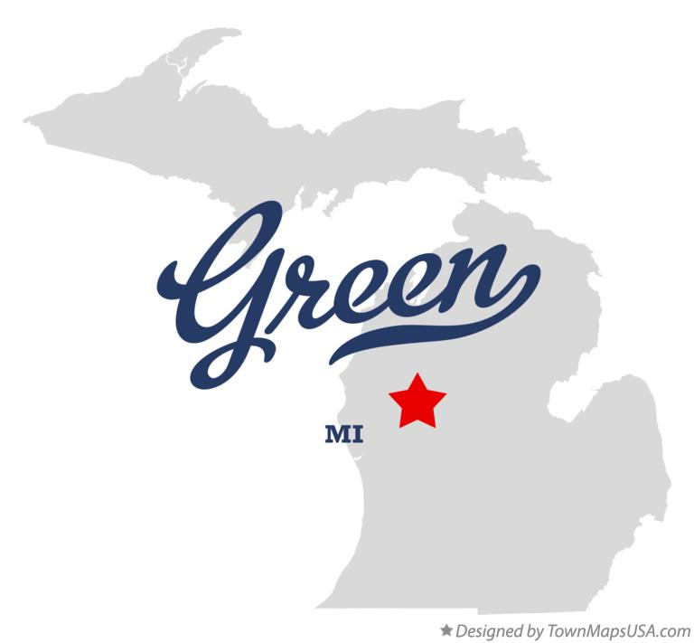 Map of Green Michigan MI