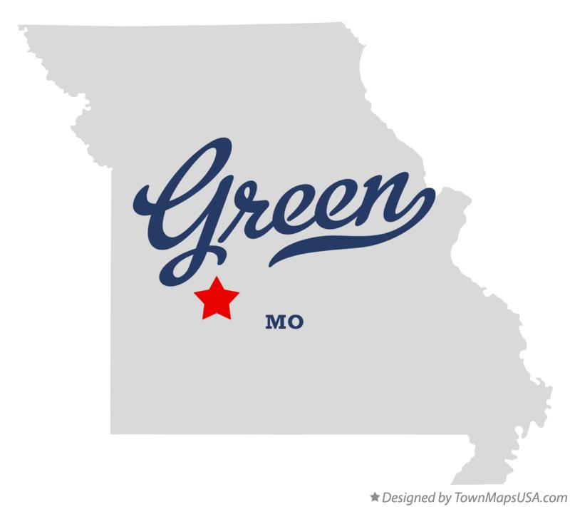 Map of Green Missouri MO