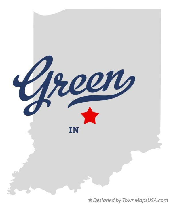 Map of Green Indiana IN