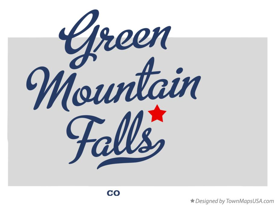 Map of Green Mountain Falls Colorado CO