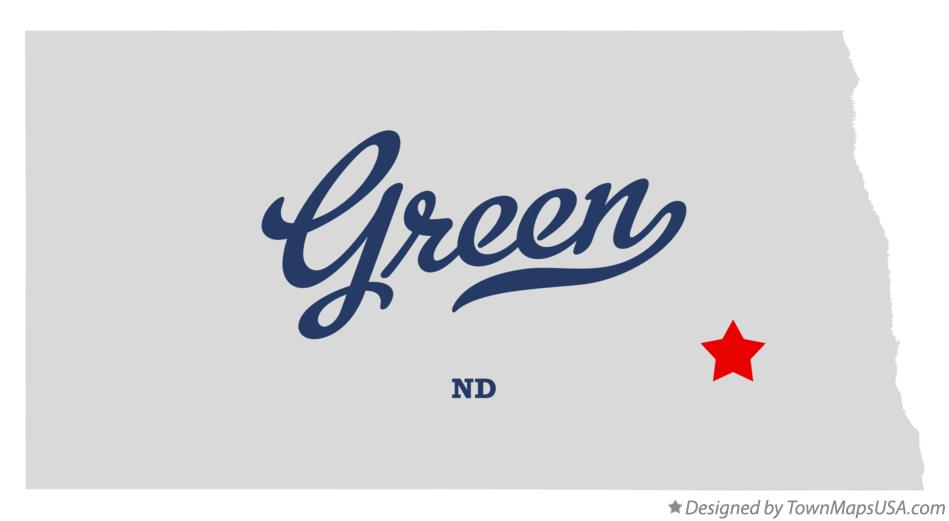 Map of Green North Dakota ND