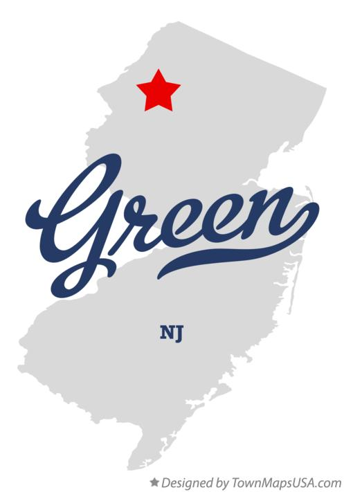 Map of Green New Jersey NJ