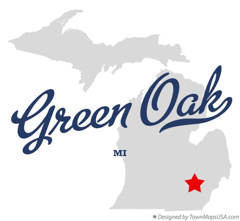 Map of Green Oak Michigan MI