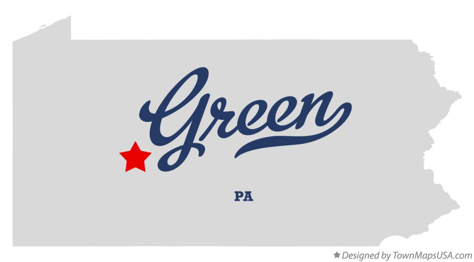 Map of Green Pennsylvania PA