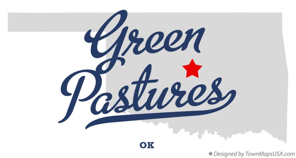 Map of Green Pastures Oklahoma OK