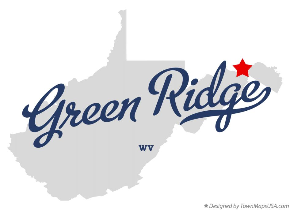 Map of Green Ridge West Virginia WV