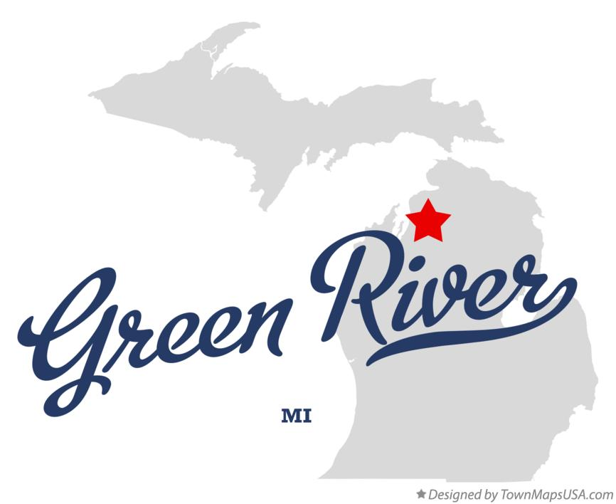 Map of Green River Michigan MI