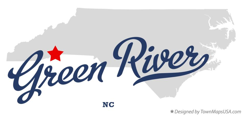 Map of Green River North Carolina NC