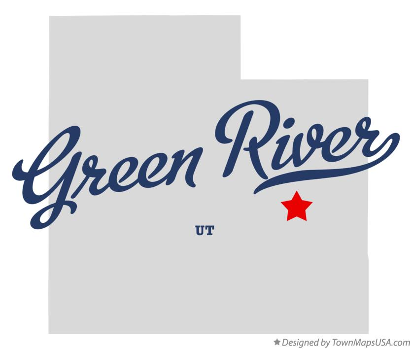 Map of Green River Utah UT
