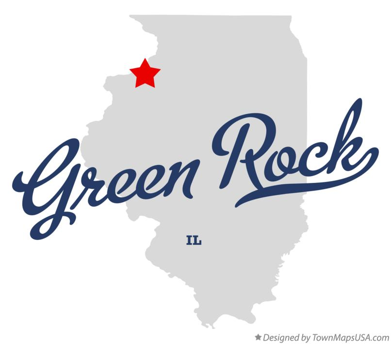 Map of Green Rock Illinois IL