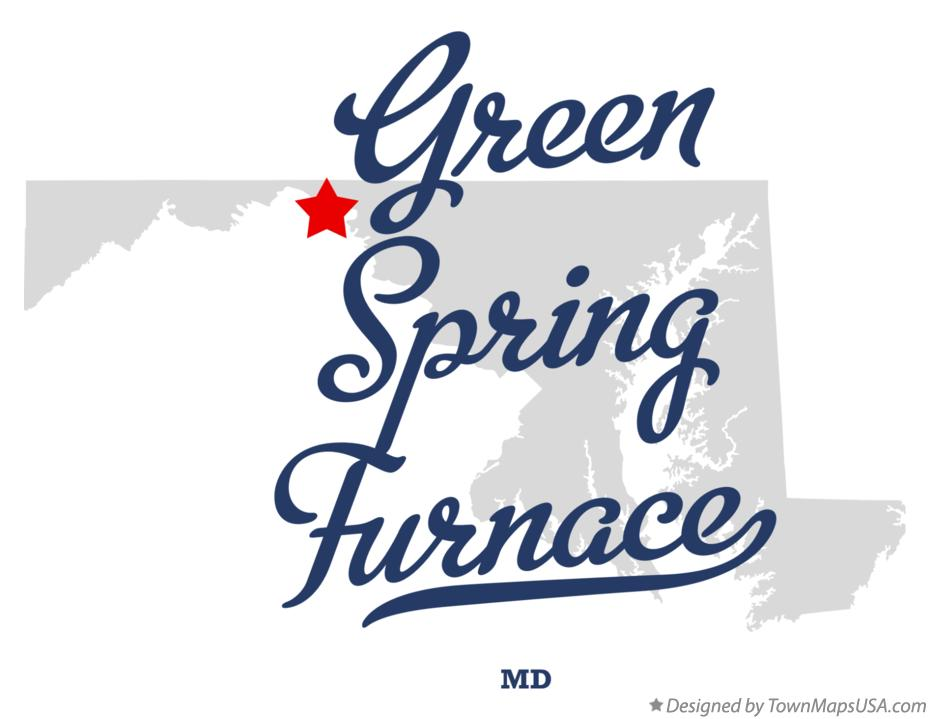 Map of Green Spring Furnace Maryland MD