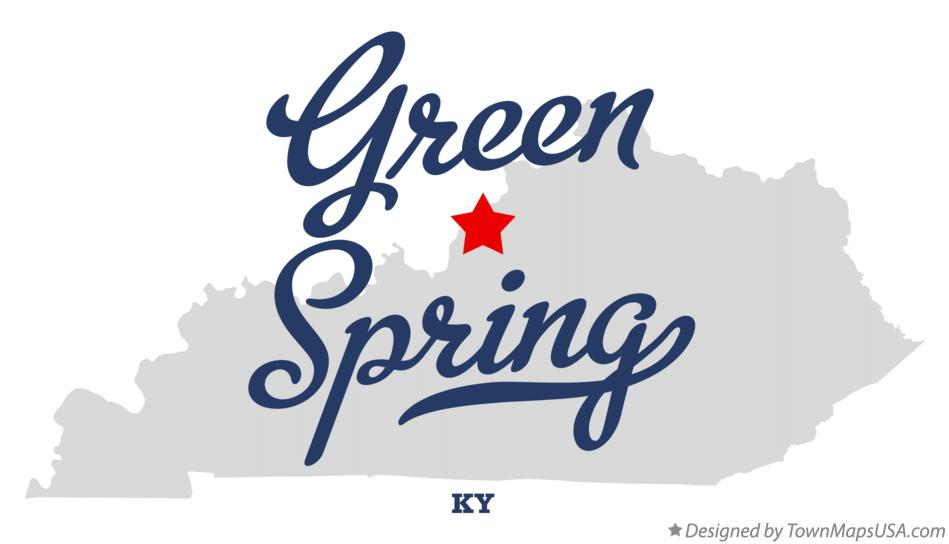 Map of Green Spring Kentucky KY