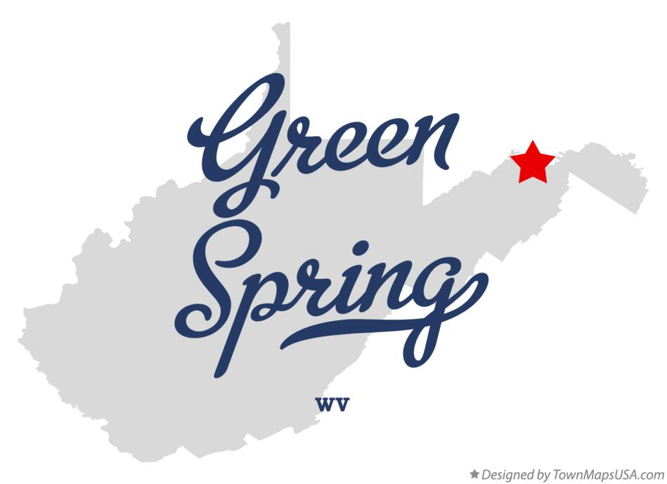 Map of Green Spring West Virginia WV