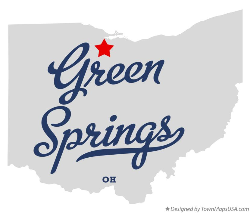 Map of Green Springs Ohio OH