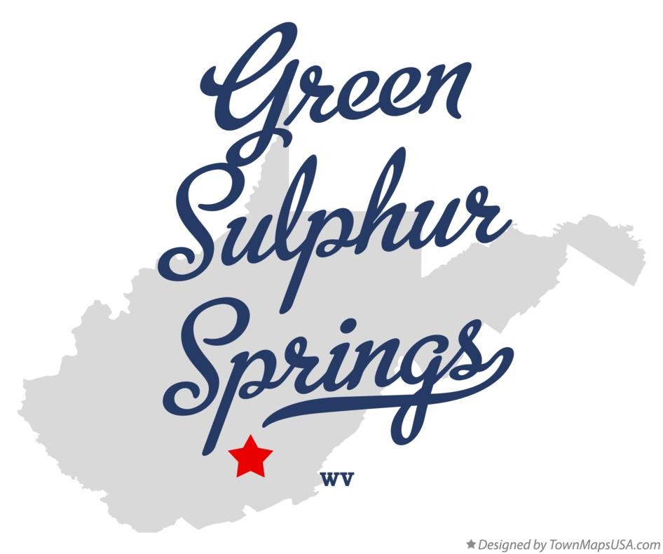 Map of Green Sulphur Springs West Virginia WV