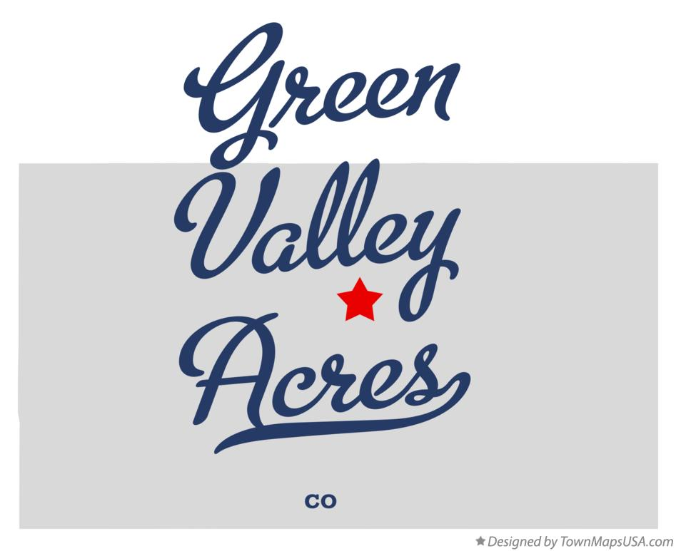 Map of Green Valley Acres Colorado CO