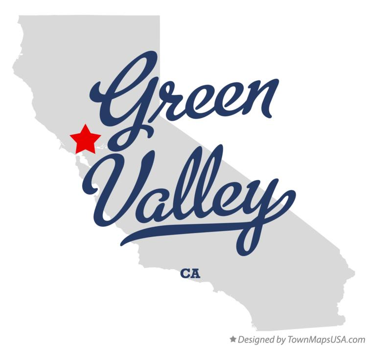 Map of Green Valley California CA
