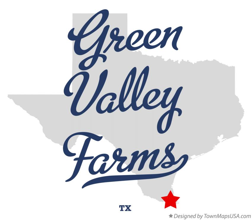 Map of Green Valley Farms Texas TX