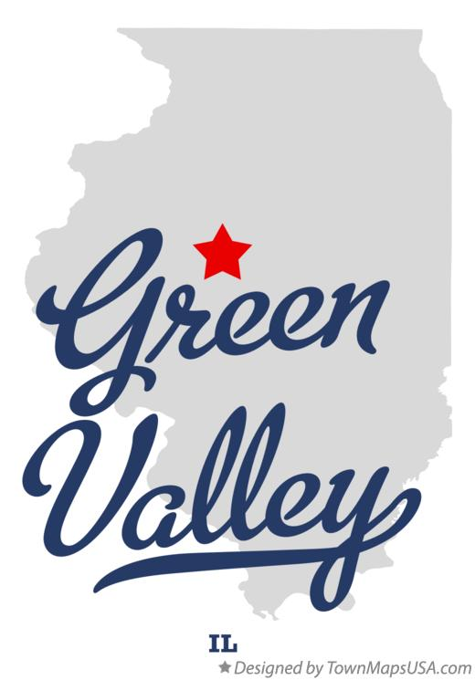 Map of Green Valley Illinois IL