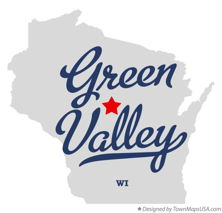 Map of Green Valley Wisconsin WI