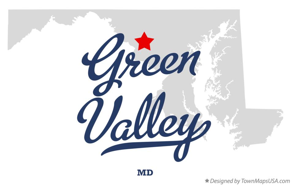 Map of Green Valley Maryland MD