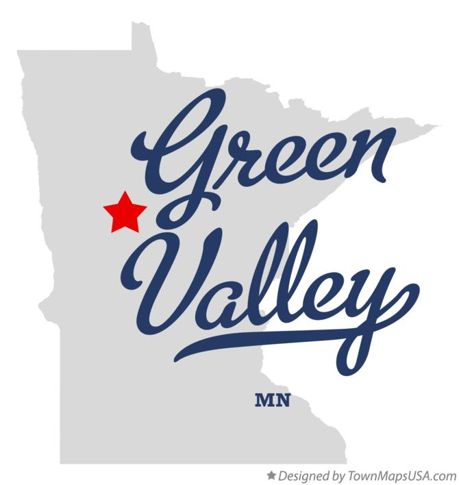 Map of Green Valley Minnesota MN