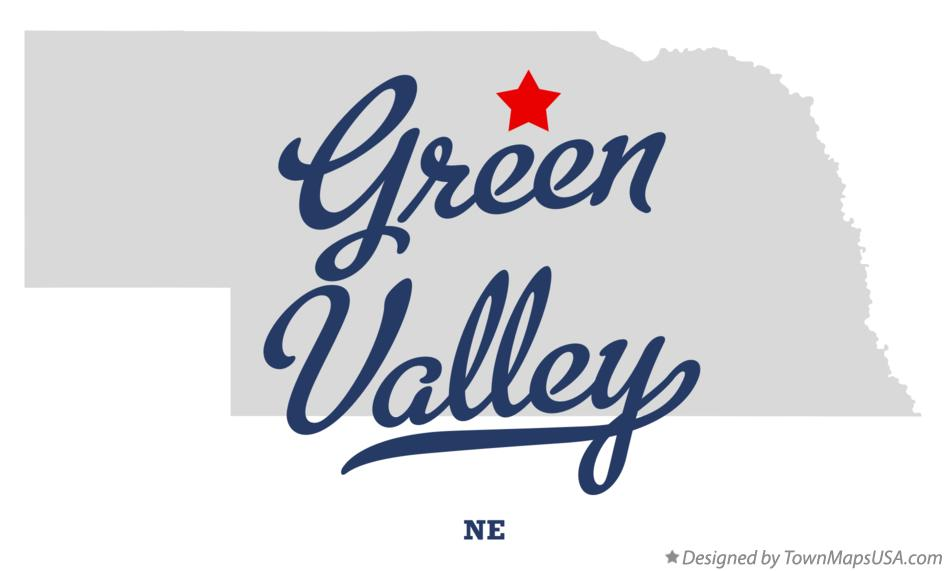Map of Green Valley Nebraska NE