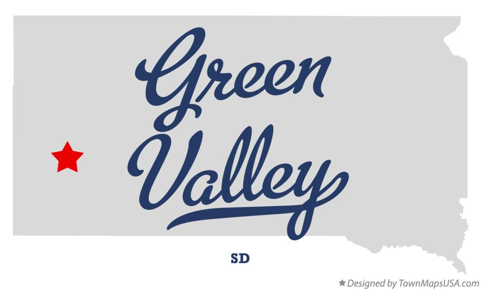 Map of Green Valley South Dakota SD